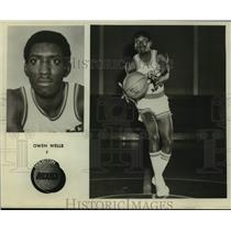 Press Photo Houston Rockets Basketball Player Owen Wells Catches Pass