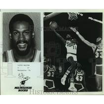 Press Photo Milwaukee Bucks Basketball Player Lloyd Walton Shoots a Lay-Up
