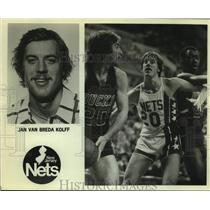 Press Photo New Jersey Nets Basketball Player Jan Van Breda Kolff Plays Defense