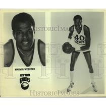 Press Photo New York Knicks Basketball Player Marvin Webster - sas20180