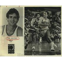 Press Photo Phoenix Suns Basketball Player Paul Westphal Plays Against Celtics