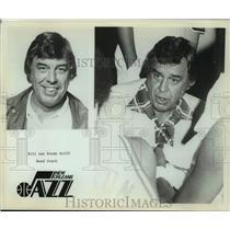 Press Photo New Orleans Jazz Basketball Head Bill van Breda Kolff Huddles