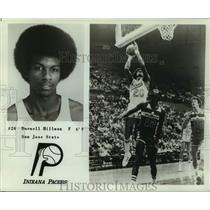 1977 Press Photo Indiana Pacers basketball player Darnell Hilllman - nos17218