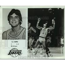 1977 Press Photo Los Angeles Lakers basketball player C.J. Kupec - nos18269