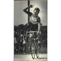 1983 Press Photo Joe Zeigler finished 1st in the Senior Cycling race, Wisconsin