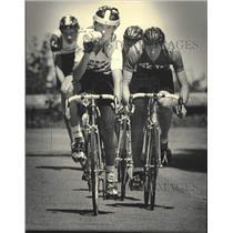 1985 Press Photo Noah Kaufman rides in The Milwaukee Sentinel Cycling Series