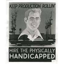 1953 Press Photo Poster Chicago Handicapped - RRW38639