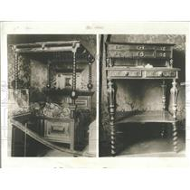 1930 Press Photo French author Victor Hugo furniture