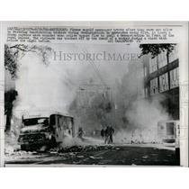 1966 Press Photo Striking Workers riot in Amsterdam - RRX62757