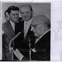 1962 Press Photo Foreign Minister Attilio Piccioni US - RRW81797