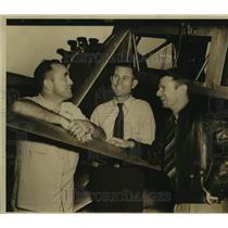 Press Photo Fred C. Harman and Douglas Corrigan, Pilots with Plane - saa07046