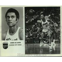 Press Photo Kansas City Kings Basketball Player Andre McCarter on Court in Game