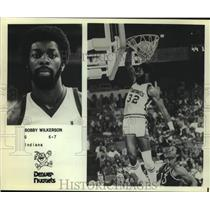 Press Photo Denver Nuggets Basketball Player Bobby Wilkerson Dunks During Game