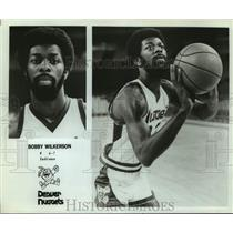 Press Photo Denver Nuggets Basketball Player Bobby Wilkerson Prepares to Shoot
