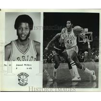 Press Photo Golden State Warriors Basketball Player Jamaal Wilkes Dribbles