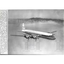 1962 Press Photo A DC7C airliner, the kind that crashed on west coast of Africa