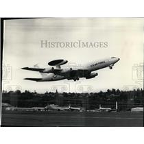 1975 Press Photo U.S. Air Force E-3A airborne warning and control system