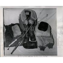 1958 Press Photo Ice Fishing Equipment Necessary - RRW90273