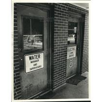 1988 Press Photo Doors to break rooms for utility workers in Bessemer, Alabama