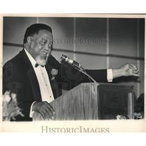 1985 Press Photo Hosea Williams, Leader, Speaking at Civil Rights Reunion