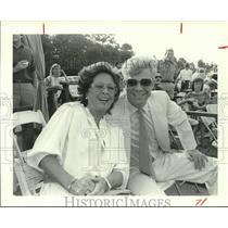 1984 Press Photo Zetta Castle and Jim Milford at Polo Boccaccio Cup, Houston