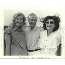 """1984 Press Photo """"Two Gails"""" and Others at Polo Event in Houston - hca49687"""