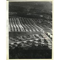 1978 Press Photo Daniel K. Ludwig Concrete Jungle Houses In Brazil Rainforest