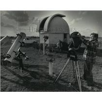 1984 Press Photo Astronomers Hold Open House to Public, Washington County