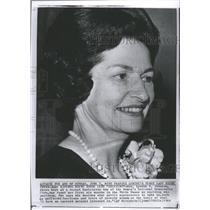 1964 Press Photo Mrs Lyndon Johnson Washington Woman - RRW48365