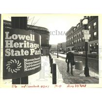 1985 Press Photo Newly Revitalized Section Of Downtown Lowell, Massachusetts