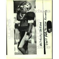 1988 Press Photo New Orleans Saints football player Rickey Jackson - nos16403