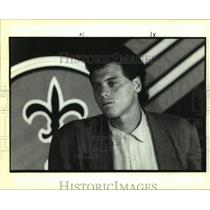 1991 Press Photo New Orleans Saints Quarterback Bobby Hebert - nos15740