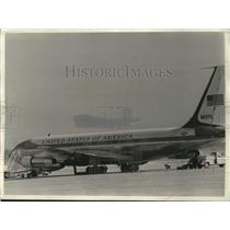 1969 Press Photo Air Force One, Boeing 707, Andrews Air Force Base, Maryland