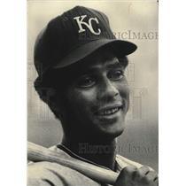 1972 Press Photo Amos Otis, Baseball Player, Kansas City Royals - mjc40704