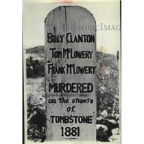 Press Photo Marker in Boot Hill Cemetery at Tombstone Arizona - mjc41016