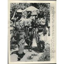 1950 Press Photo a machine gun crew of the South Korean army in the Pohang area