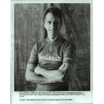 1990 Press Photo Pro Cycling Greg LeMond Wears Tommaso Cylingwear by DuPont