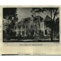 1975 Press Photo The Melrose plantation home undergoing restoration - nob84080