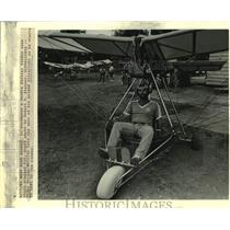 1982 Press Photo Ronny Morgan sits in his prized Ultralight - nob88886
