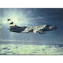 Press Photo Security Service Federal Credit Union Airplane in Flight - saa19840