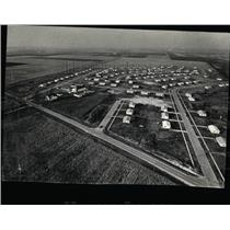 1956 Press Photo Aerial View of the  Weston, Illinois.