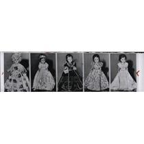 1965 Press Photo Dolls Wives Washington Madison Lincoln - RRW77823