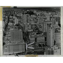1972 Press Photo Aerial view of San Francisco - RRX62839
