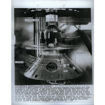 1961 Press Photo Spin rocket Missiles Space system ball - RRX57627