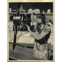 1933 Press Photo Novel instrument gadget weather Calif - RRX71933