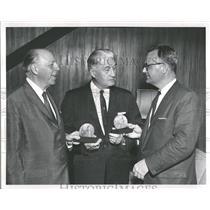 1961 Press Photo Detroit New Arthur Poinier Cartoonist