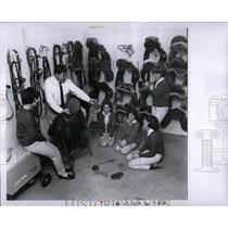 1964 Press Photo Girl scouts organization work Michigan