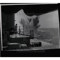 1961 Press Photo Navy explodes depth charger - RRX63591