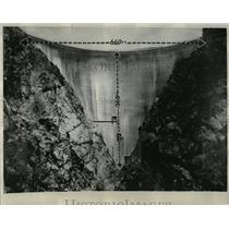 1929 Press Photo Pacoima Dam San Francisco valley Creek - RRX78507
