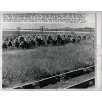 1965 Press Photo Conestoga Wagons On Santa Fe Trail - RRW64749
